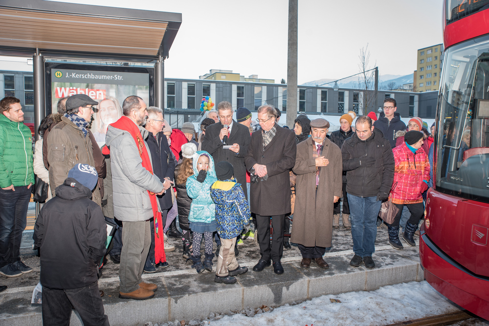 Einweihung Straßenbahnlinie O-Dorf